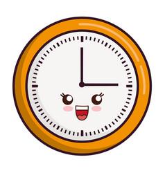Kawaii clock icon vector