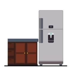 Kitchen interior graphic vector