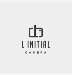 L initial photography logo template design vector