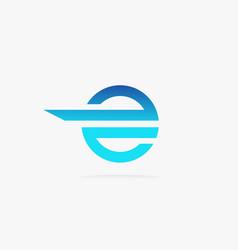 letter e logo design abstract vector image