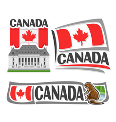 logo for canada vector image
