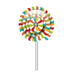 lollipop candy sweet isolated icon vector image
