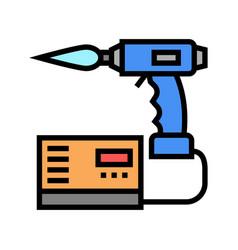 Manual arc welding color icon vector