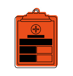 medical history on clipboard healthcare icon image vector image