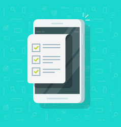 mobile phone and checklist vector image