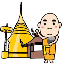 Monk Thai vector