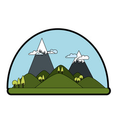 mountains landscape image vector image