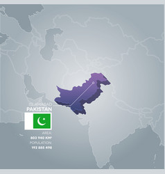 Pakistan information map vector