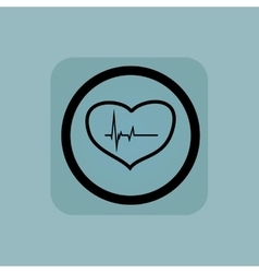 Pale blue cardiology sign vector image