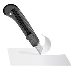Plastic knife vector