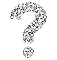question mosaic of time icons vector image
