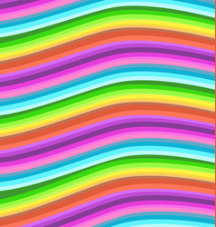 rainbow wavy stripes background vector image