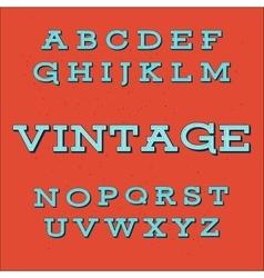Retro Vintage Style Alphabet font vector