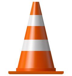 road safety cone vector image