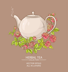 Rose tea vector