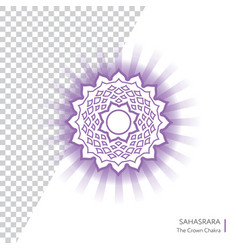 Sahasrara - crown chakra of human body vector