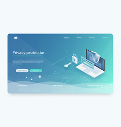 security data protection concept vector image