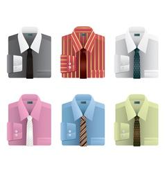 shirts and ties vector image