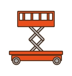 Sketch lifting platform trolley stock warehouse vector