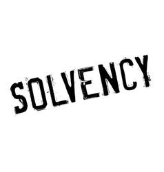 Solvency rubber stamp vector