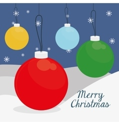 Spheres of chistmas design vector