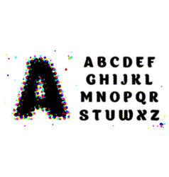 stylized beautiful font and alphabet comics pop vector image