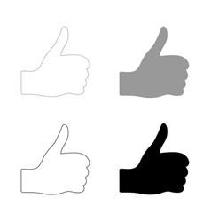symbol good the black and grey color set icon vector image