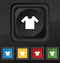 T-shirt icon symbol Set of five colorful stylish vector image