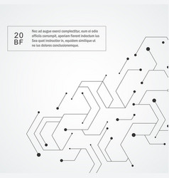 Technology hexagons structure vector