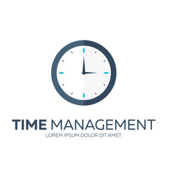 time management time logo flat vector image