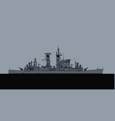 us navy albany class guided missile cruiser vector image