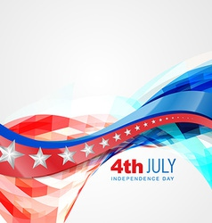 wave style independence day vector image