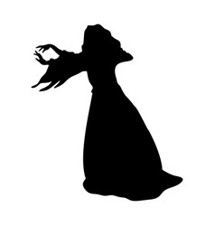 Witchcraft witch magical silhouette fantasy vector
