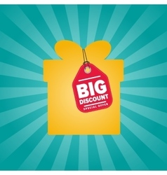 Big discount isolated sale sticker on box vector image vector image