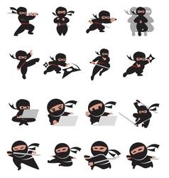 ninja time vector image