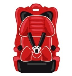 red child car seat vector image