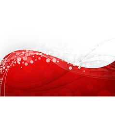 Stylish abstract red background vector image vector image