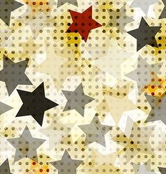 vintage star seamless vector image