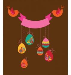 floral Easter banner vector image