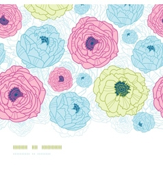 Lovely flowers vertical seamless pattern vector image vector image