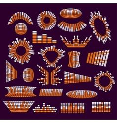 Set of music range equalizer design vector image vector image