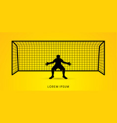 Silhouette goalkeeper vector