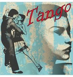 tango dance background vector image