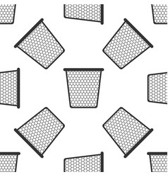 trash can seamless pattern on white background vector image vector image