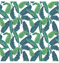 tropical leaves seamless pattern palm tree vector image