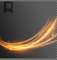 Abstract transparent light effect in wave style vector
