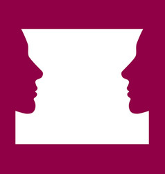 face to face women face look at each other vector image