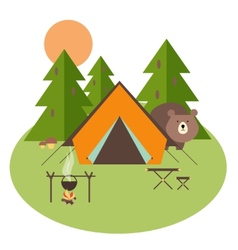 Forest Camping vector image