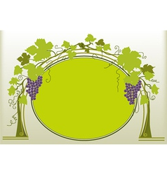 Grapes ornament vector image vector image