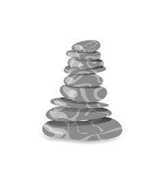 grey stone pyramid vector image